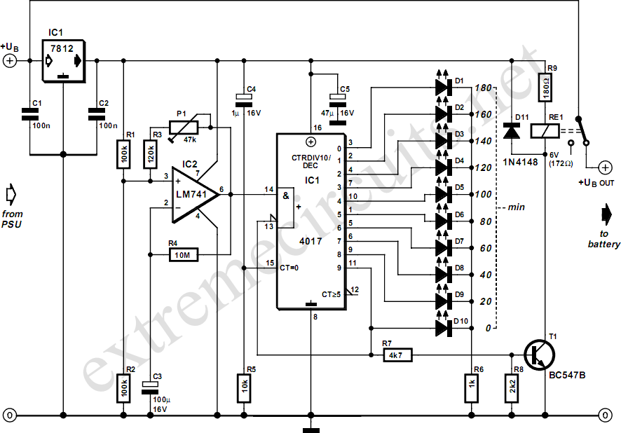 three hour timer circuit diagram