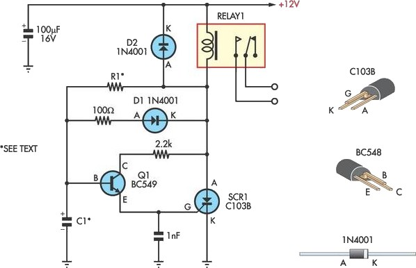 Handy Time Delay With Relay Output Circuit Diagram