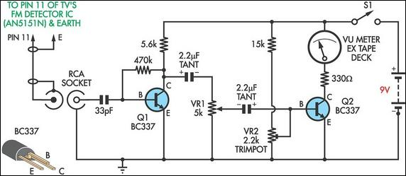Tv Relative Signal Strength Meter Circuit Diagram