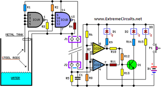 Water level indicator circuit schematic circuit diagram water level indicator circuit schematic ccuart Image collections