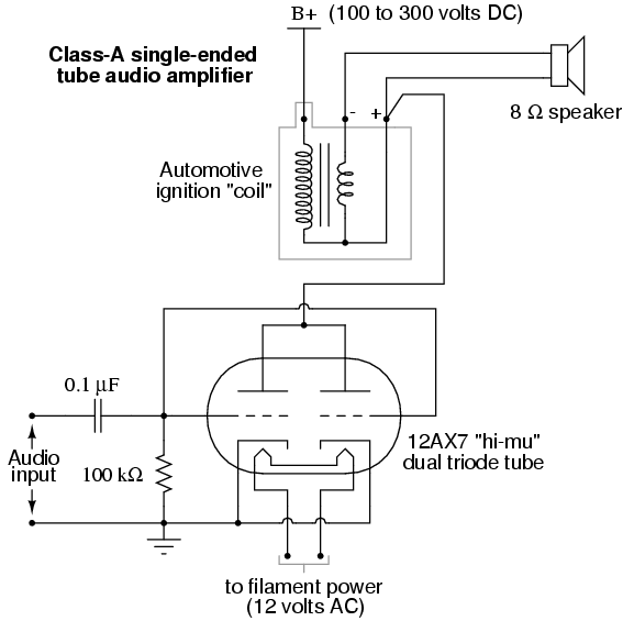 Vacuum Tube Audio Amplifier   Discrete Semiconductor Circuits