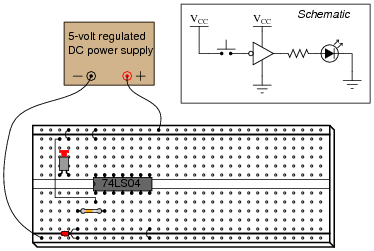 the dip circuit is a ttl hex inverter (it contains six �nverter