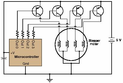 أبسط طريقة أن تستعمل ترنسستورات بالطريقة التالية