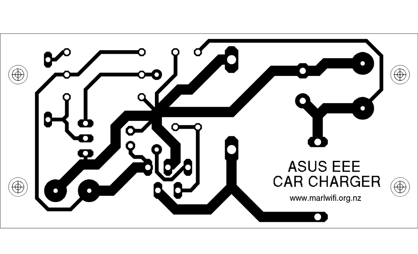 A 12v Car Charger For Asus Eee Notebook Circuit Diagram Laptop Power Adapter Typical Make Yourself Pcb Using The Template Below