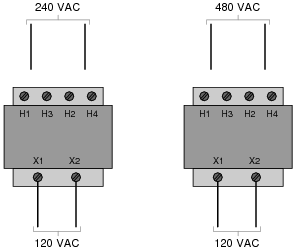 Show The Connections On Four H Terminals Necessary For 240 Volt Operation And Also 480 Following Ilrations